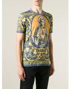 Dolce & Gabbana 'Majolica' Print T-Shirt - Lyst