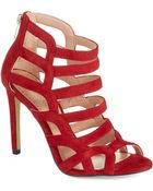Enzo Angiolini Suede Cage Heels - Lyst