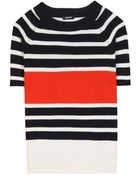 Jil Sander Navy Cotton And Wool-Blend Sweater - Lyst