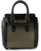 Alexander McQueen Mini 'Heroine' Studded Tote - Lyst