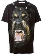 Givenchy Rottweiler Print T-shirt - Lyst