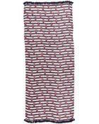 Tory Burch Pineapple Stripe Scarf - Tory Navy Multi - Lyst