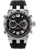 Sean John Men'S Analog-Digital Black Silicone Strap Watch 60X45Mm 10021794 - Lyst