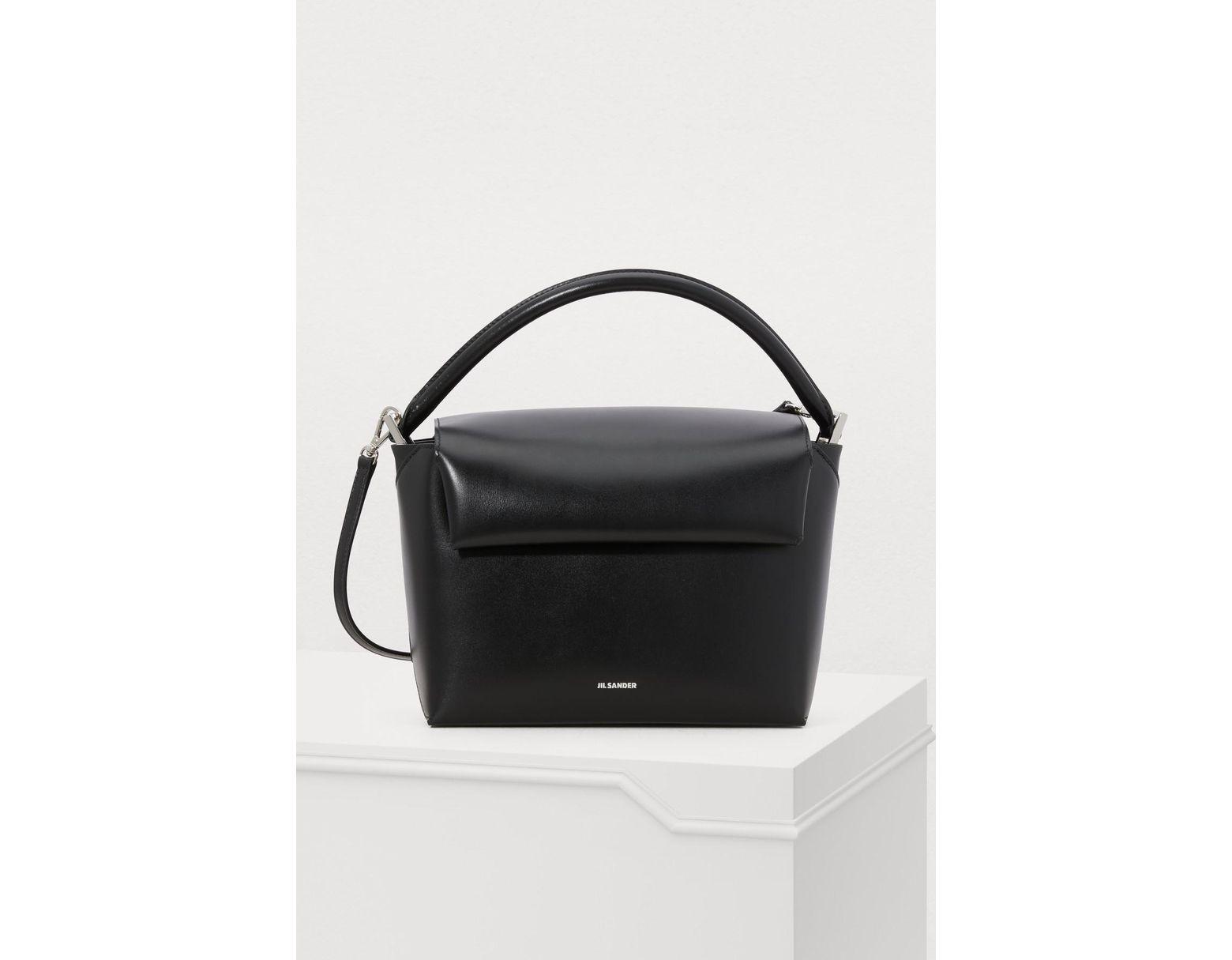 89c5f87fe3 Jil Sander Envelope Box Handbag in Black - Lyst