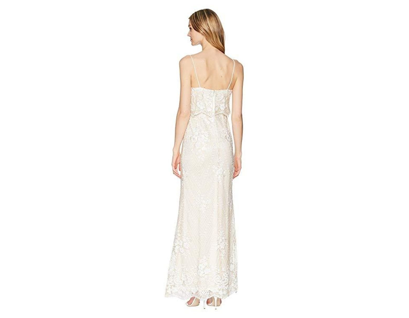 6af65d06 Adrianna Papell Sequin Popover Gown (pearl) Dress in White - Save 25% - Lyst