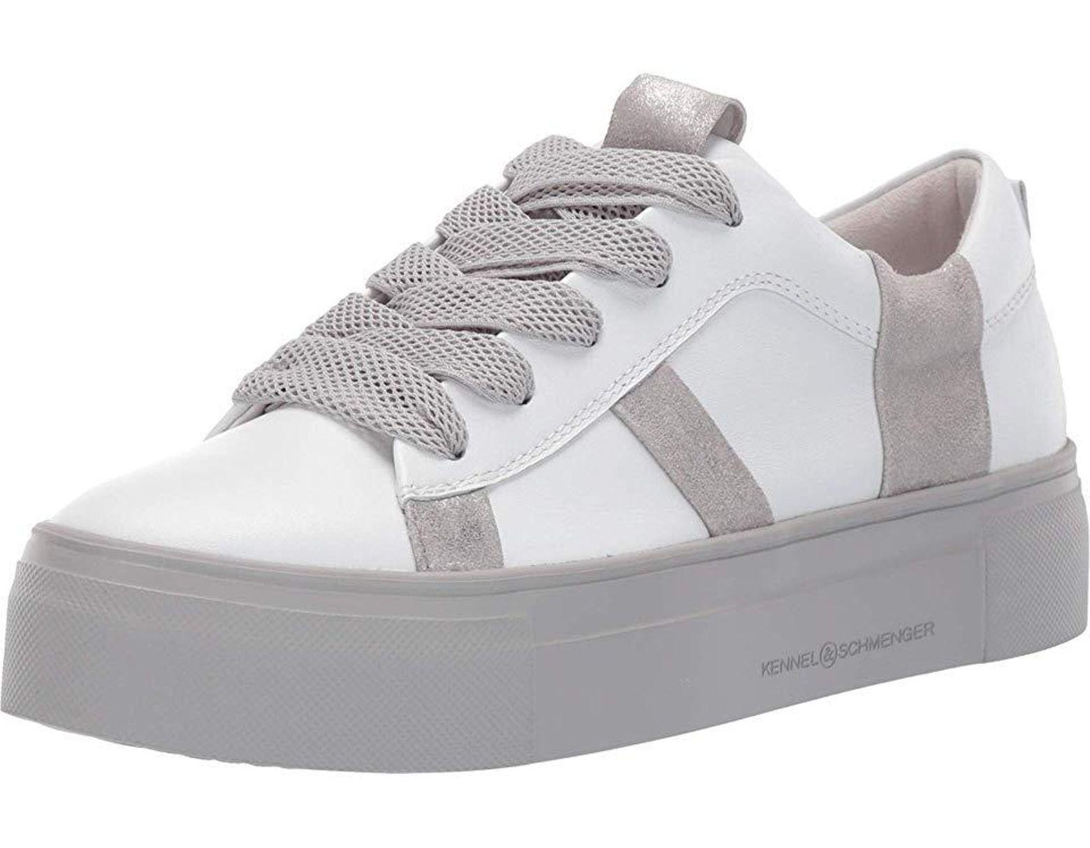 große Sammlung Größe 40 zu verkaufen Women's White Big Striped Sneaker (bianco Calf/silver Metallic) Shoes