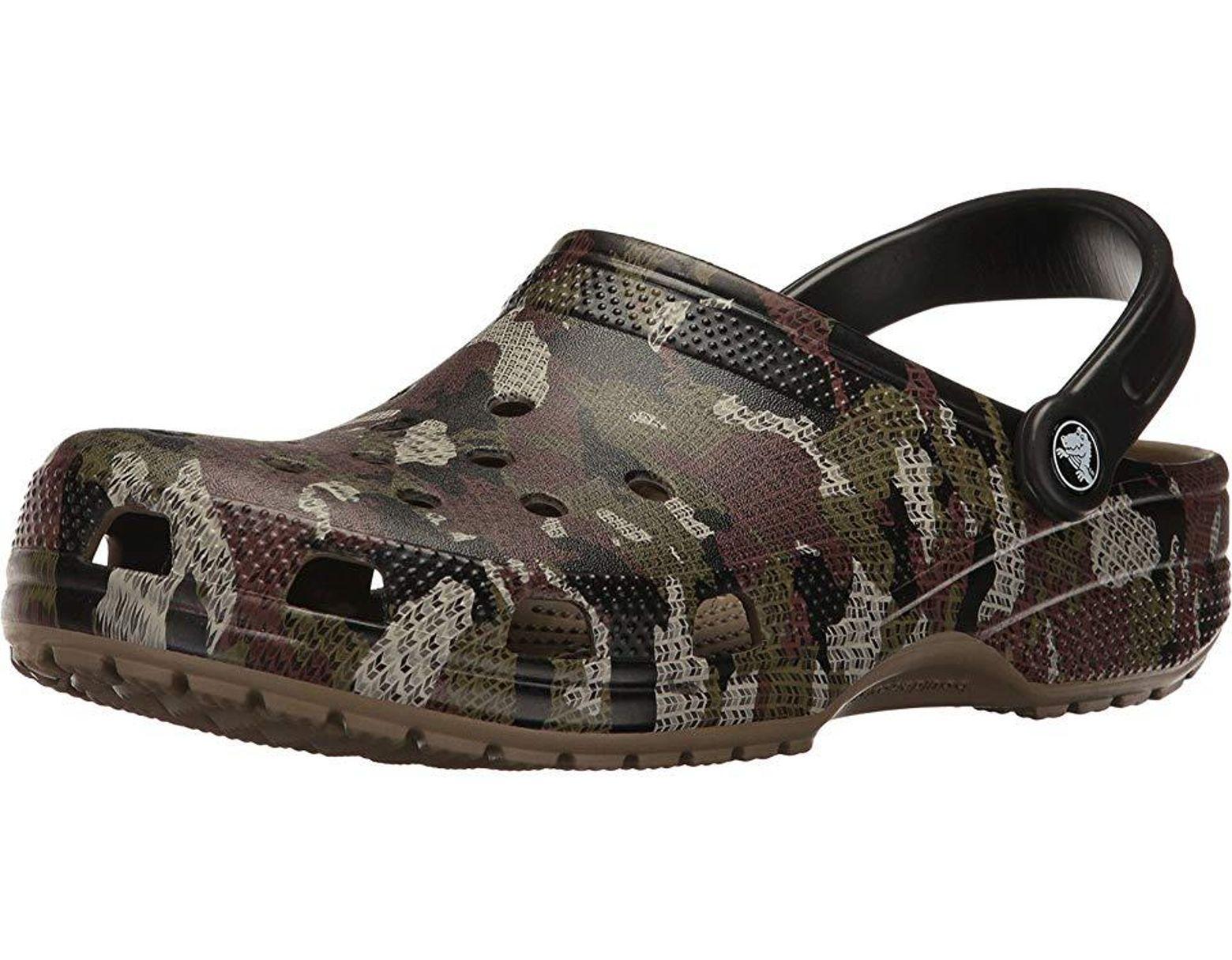 dfb1be8f7402e Crocs™ Classic Camo Clog (khaki) Clog/mule Shoes - Lyst