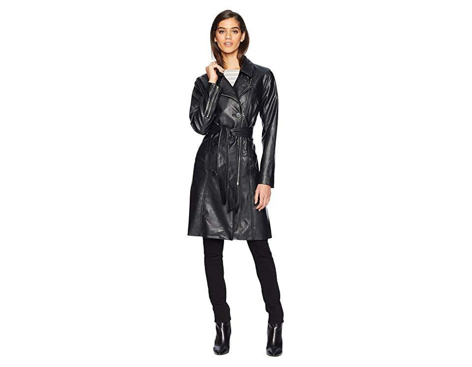 43d8067d238 Blank NYC Vegan Leather Trench Coat In The Punisher (the Punisher) Coat in  Black - Save 33% - Lyst