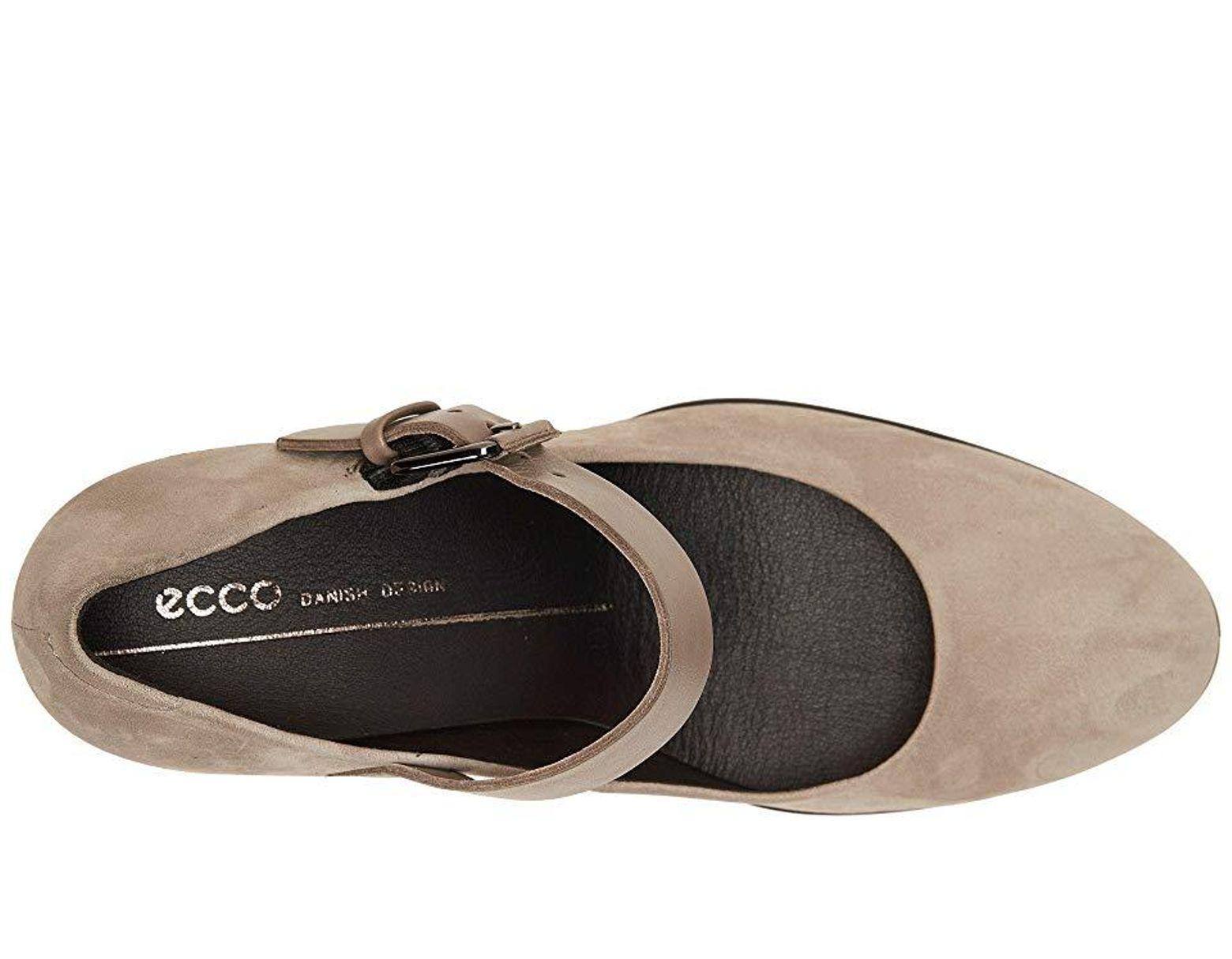 562ca5f85fbe8 Ecco Shape 55 Plateau Mary Jane Pump (warm Grey/stone Calf Nubuck/cow  Leather) High Heels in Gray - Save 30% - Lyst