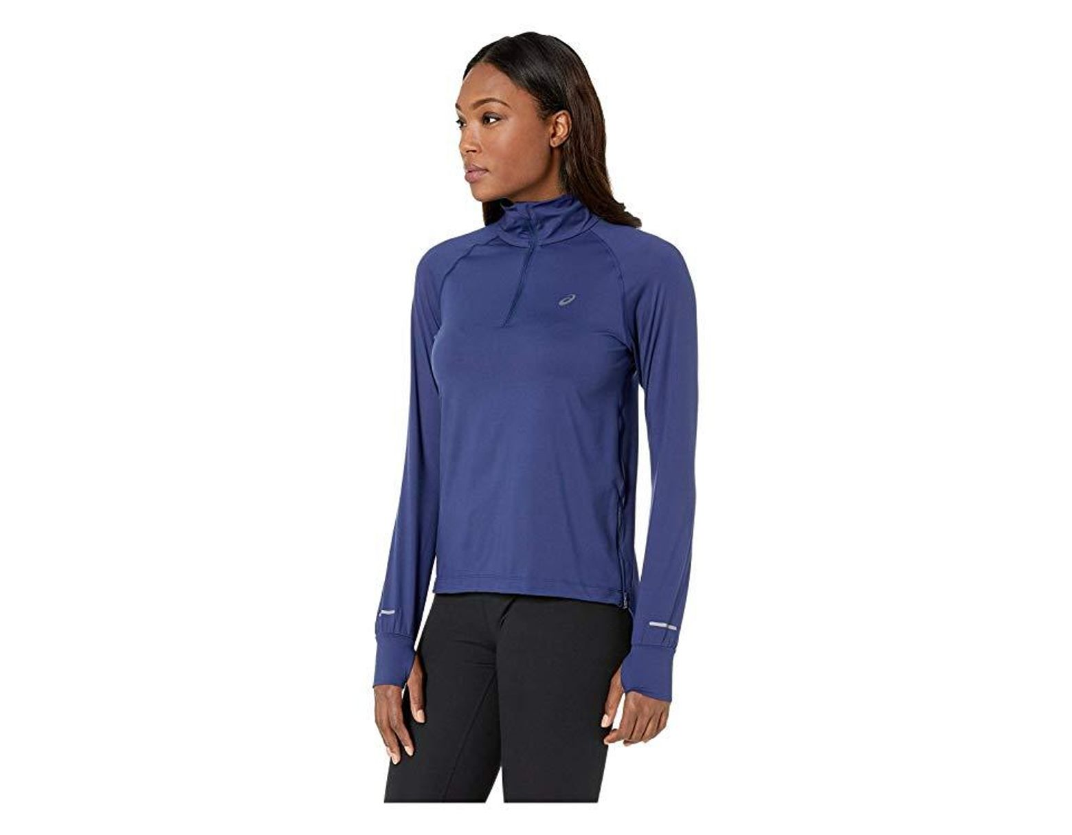 Asics Thermopolis(r) Long Sleeve 12 Zip in Blue Save 36