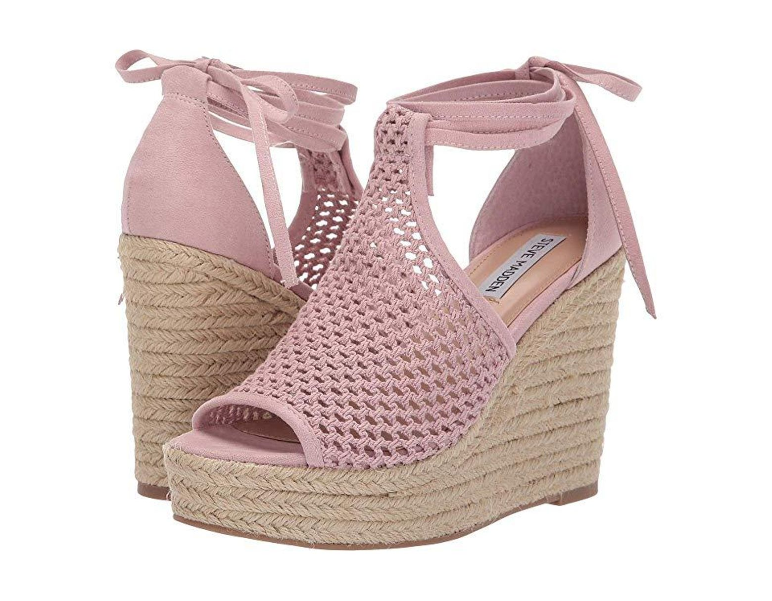 90b6a4a571 Steve Madden Sure Wedge Sandal (blush) Wedge Shoes in Pink - Save 51% - Lyst