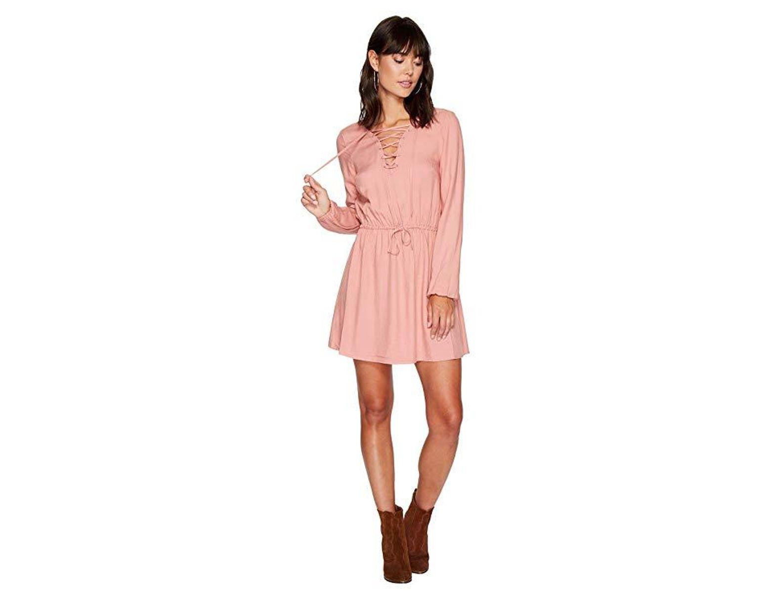 00894690a0 Jack BB Dakota Char Rayon Twill Lace-up Dress (rose Dawn) Dress in Pink -  Save 37% - Lyst