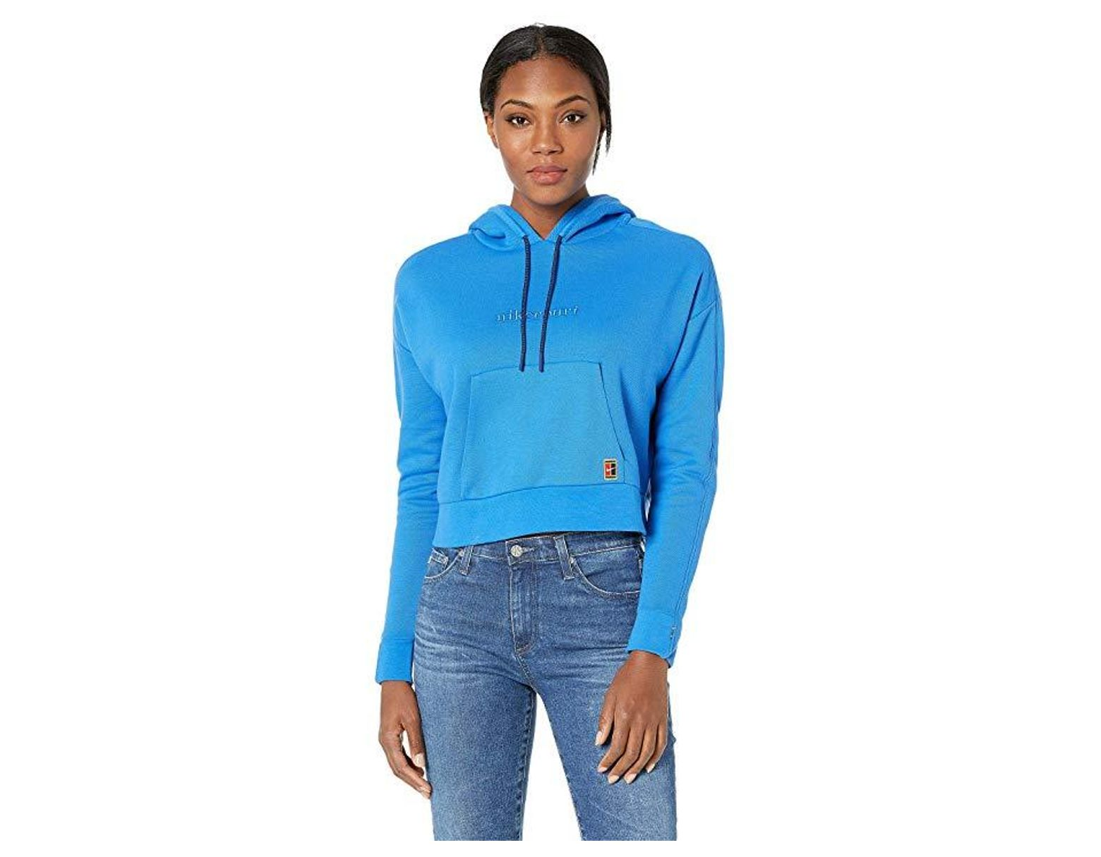 3fadab258 Nike Court Hoodie Pullover (signal Blue/blue Void/white) Clothing in Blue -  Save 33% - Lyst