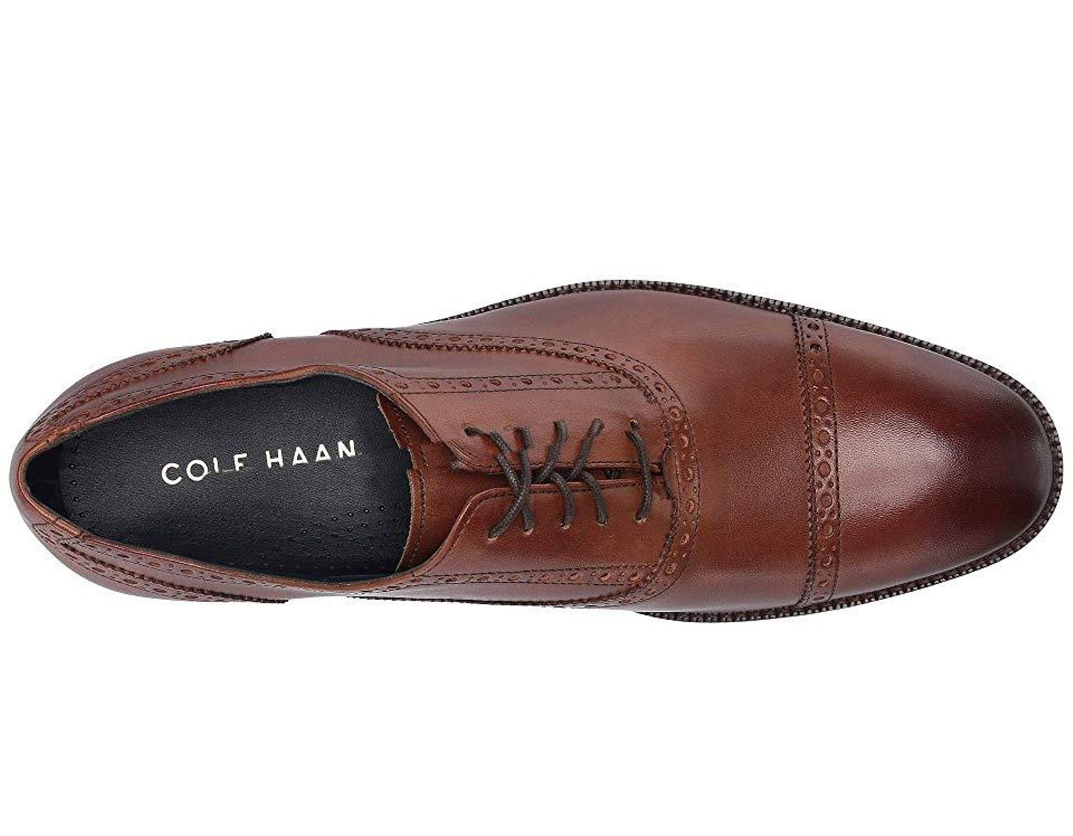003c7f537ef820 Cole Haan Wayne Cap Toe (british Tan) Shoes in Brown for Men - Save 14% -  Lyst