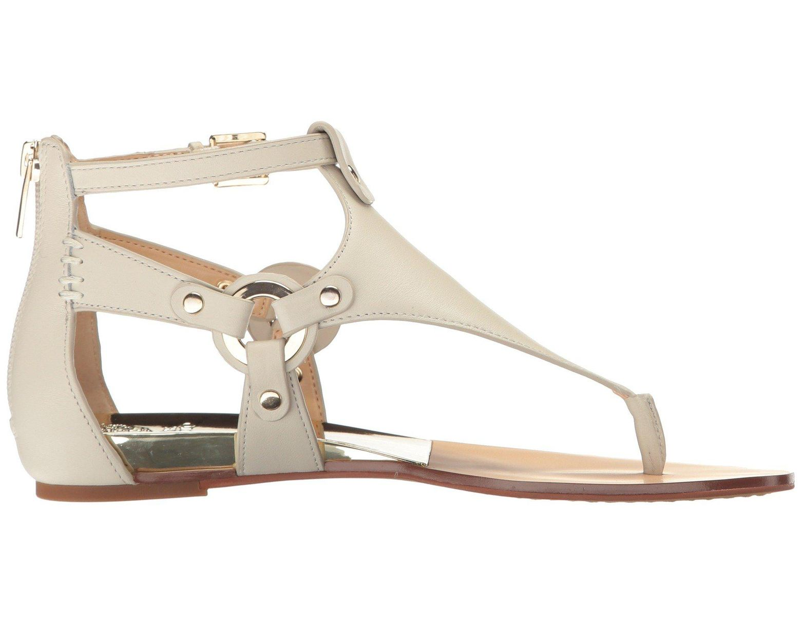 c519cf37bd54 Lyst - Vince Camuto Averie Caged Thong Sandals in White - Save 49%