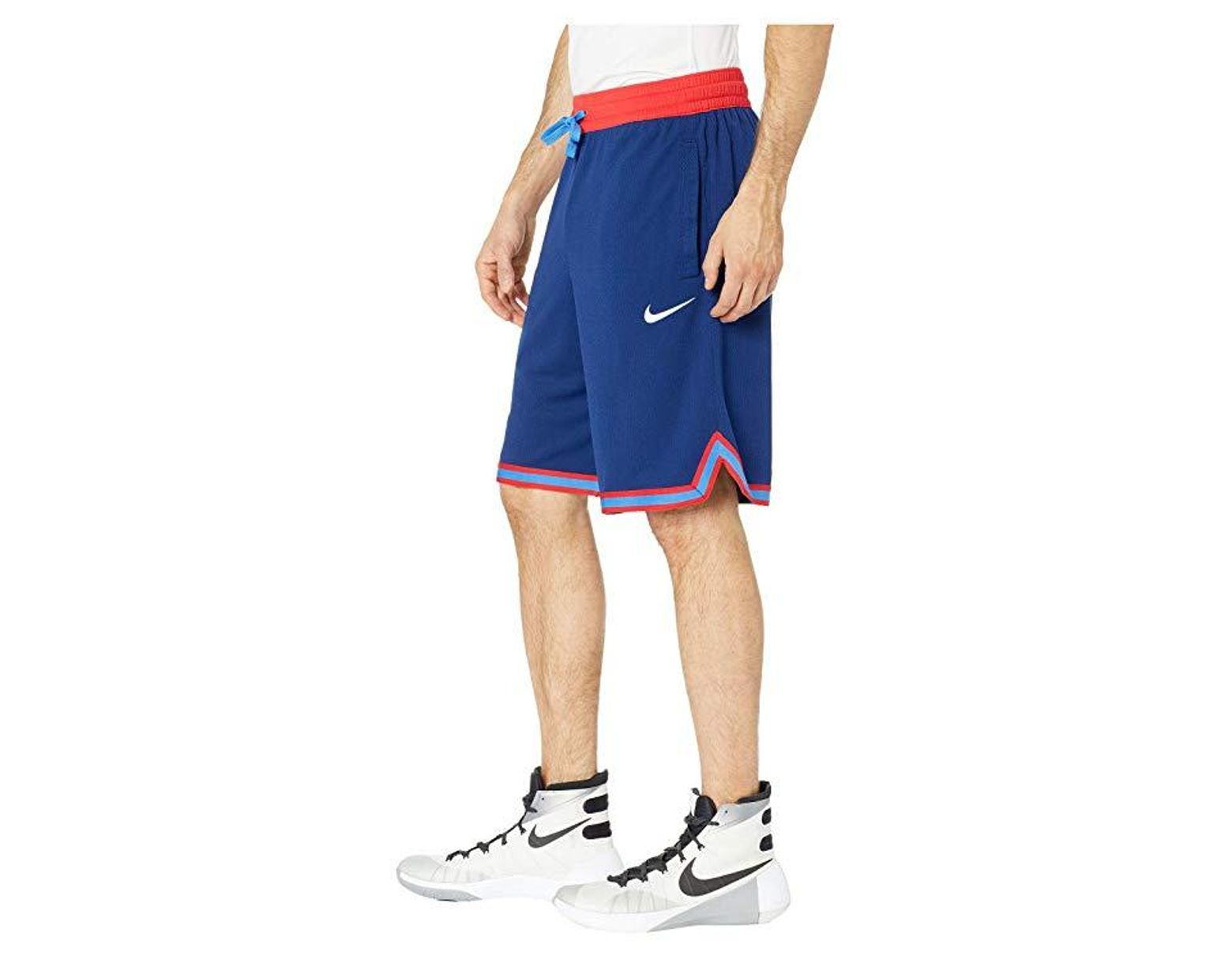d9b29e734fc Nike Dry Dna Shorts (blue Void/university Red/white) Shorts in Blue ...