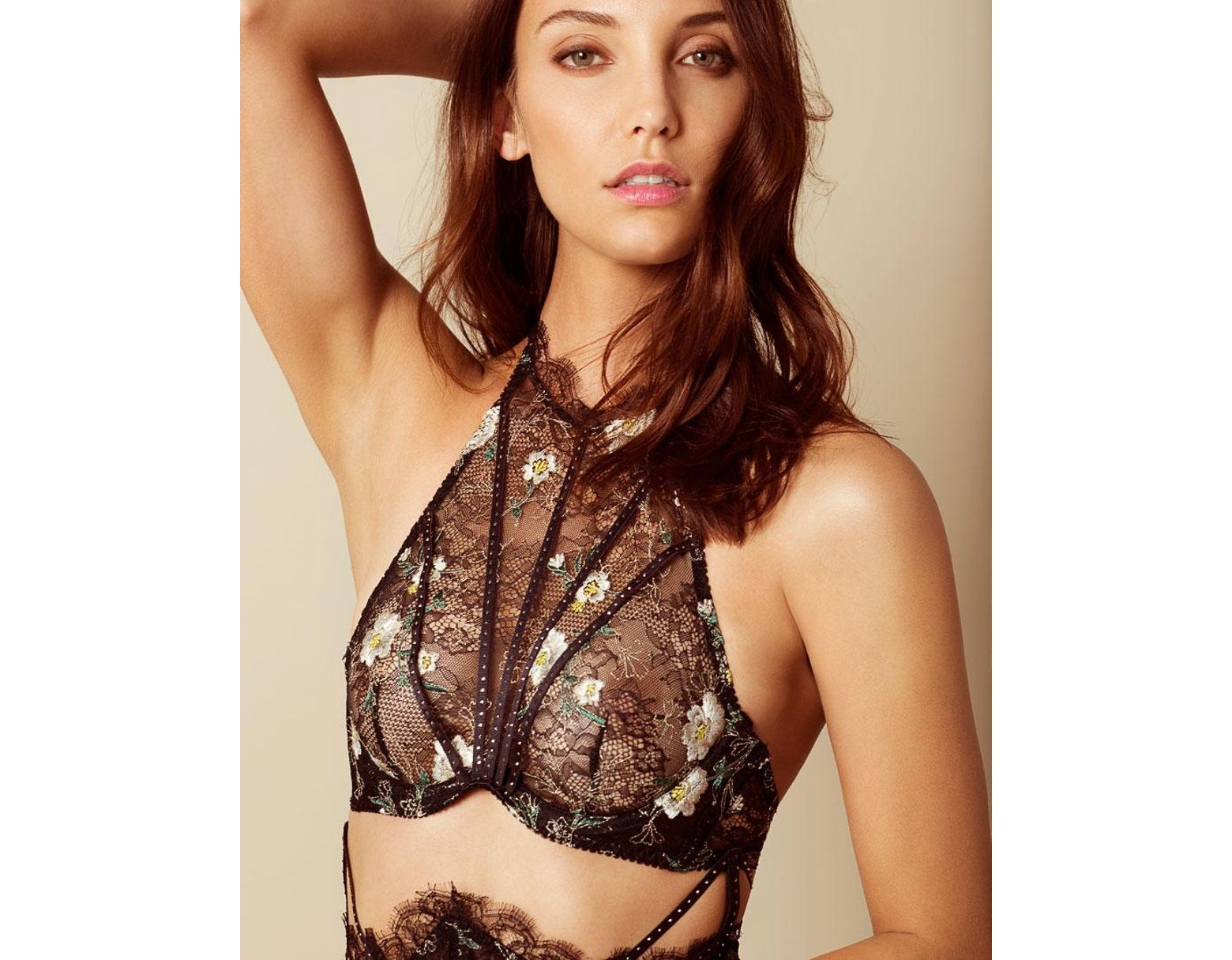 07b7efa015bc Agent Provocateur Athena High Neck Underwired Bra in Black - Lyst