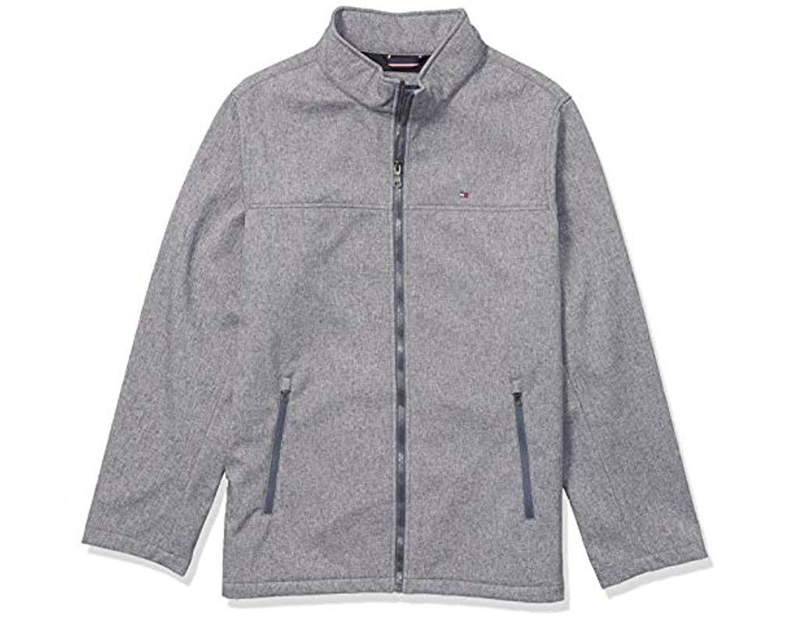 bdb23839 Tommy Hilfiger Classic Soft Shell Jacket (regular & Big-tall Sizes) in Gray  for Men - Lyst