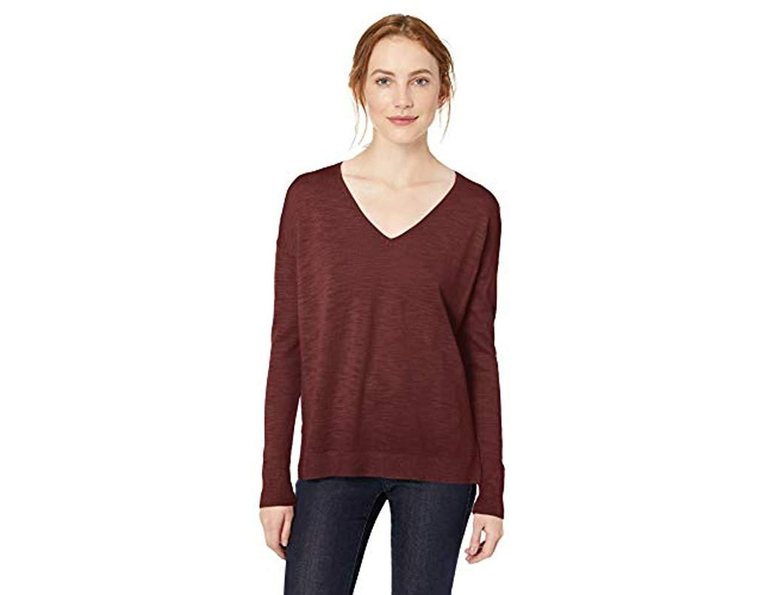 Brand Daily Ritual Womens Lightweight V-Neck Tunic Sweater