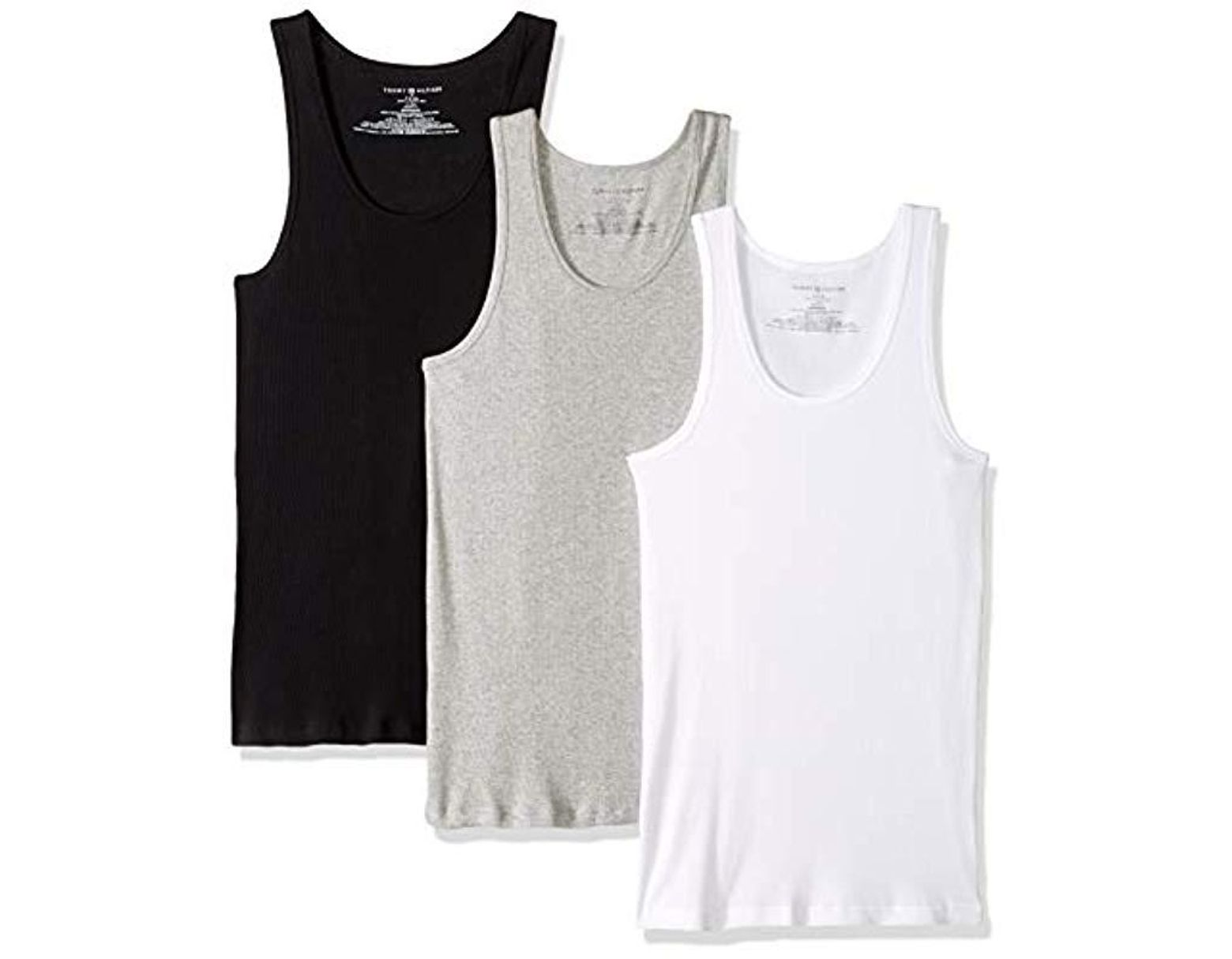 TOMMY HILFIGER Mens Undershirts 3 Pack Cotton Classics Crew Neck T-Shirt  Underwear