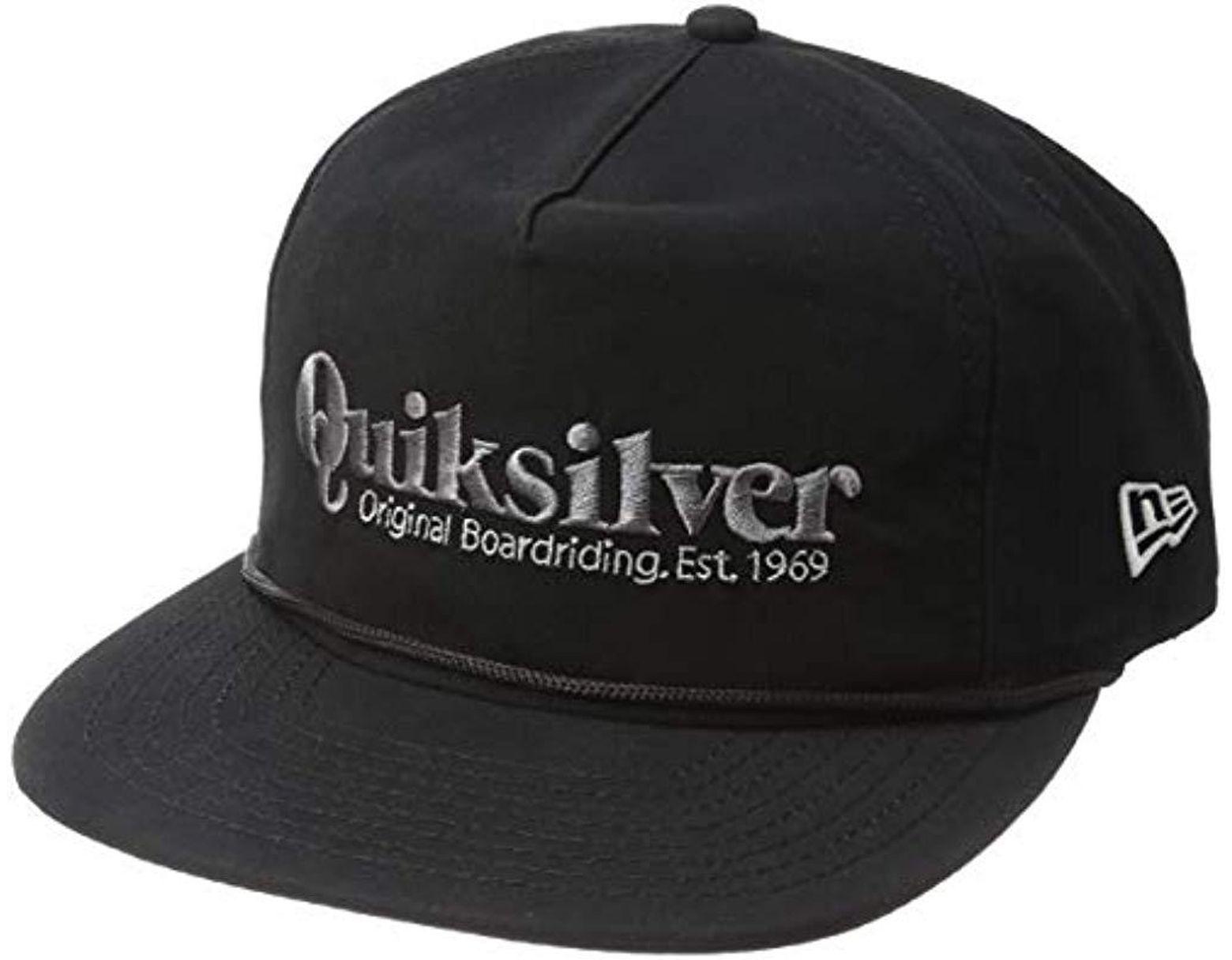 best website f254b 7407b Lyst - Quiksilver Pine Dropper Trucker Hat in Black for Men