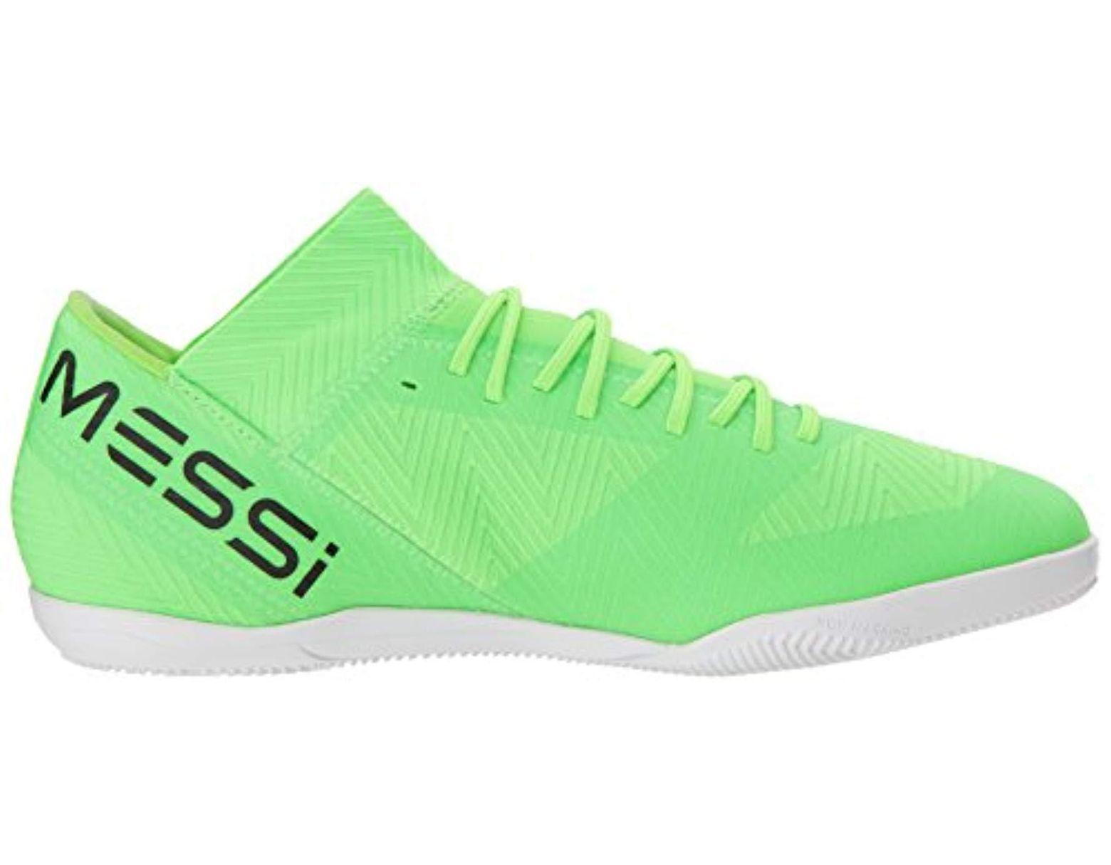 e3a0468f6 adidas Originals Nemeziz Messi Tango 18.3 Indoor Soccer Shoe in Green for  Men - Save 15% - Lyst