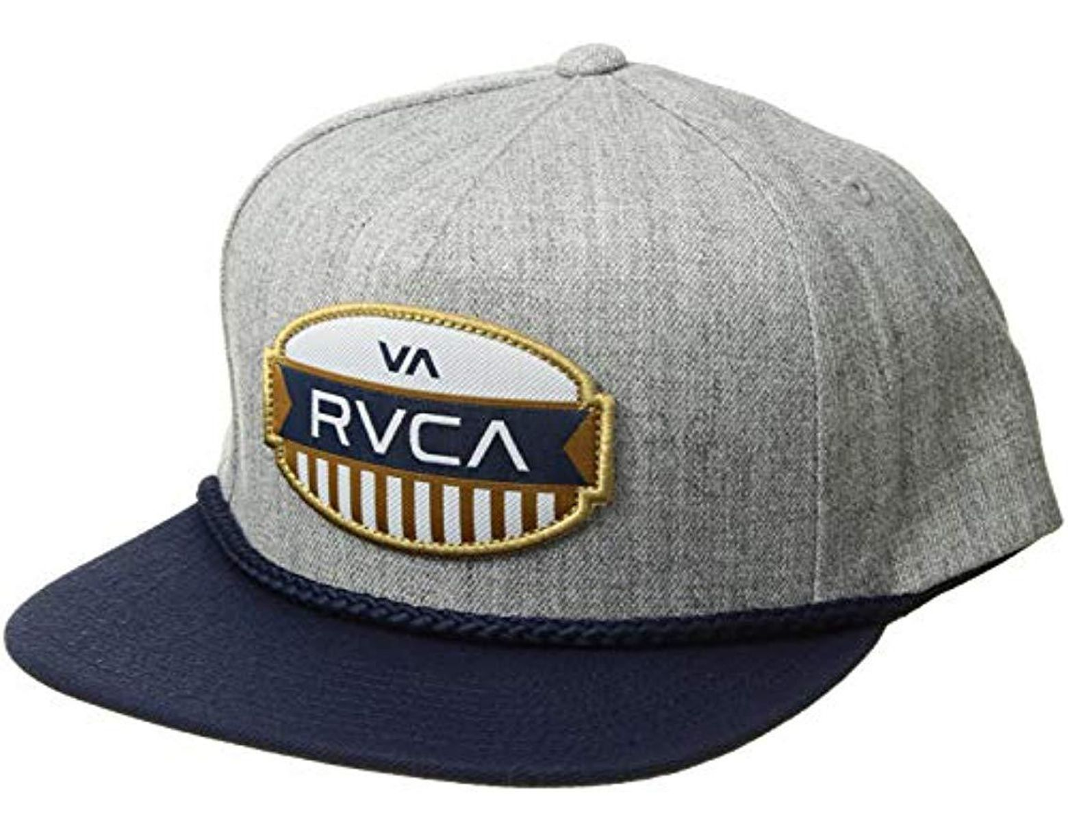 04fcb75ca1181b RVCA Grill Snapback Hat in Gray for Men - Save 19% - Lyst