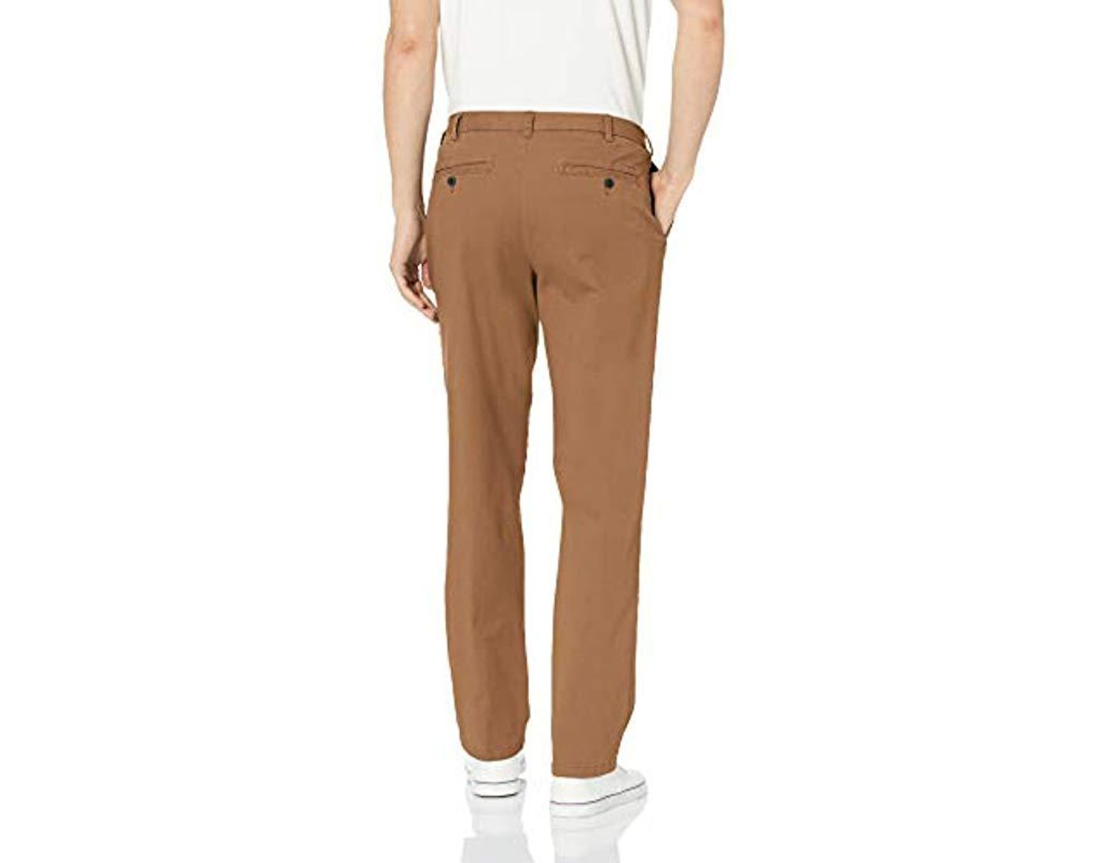 68de0b3ed769e1 Izod Saltwater Stretch Flat Front Straight Fit Chino Pant in Brown for Men  - Lyst
