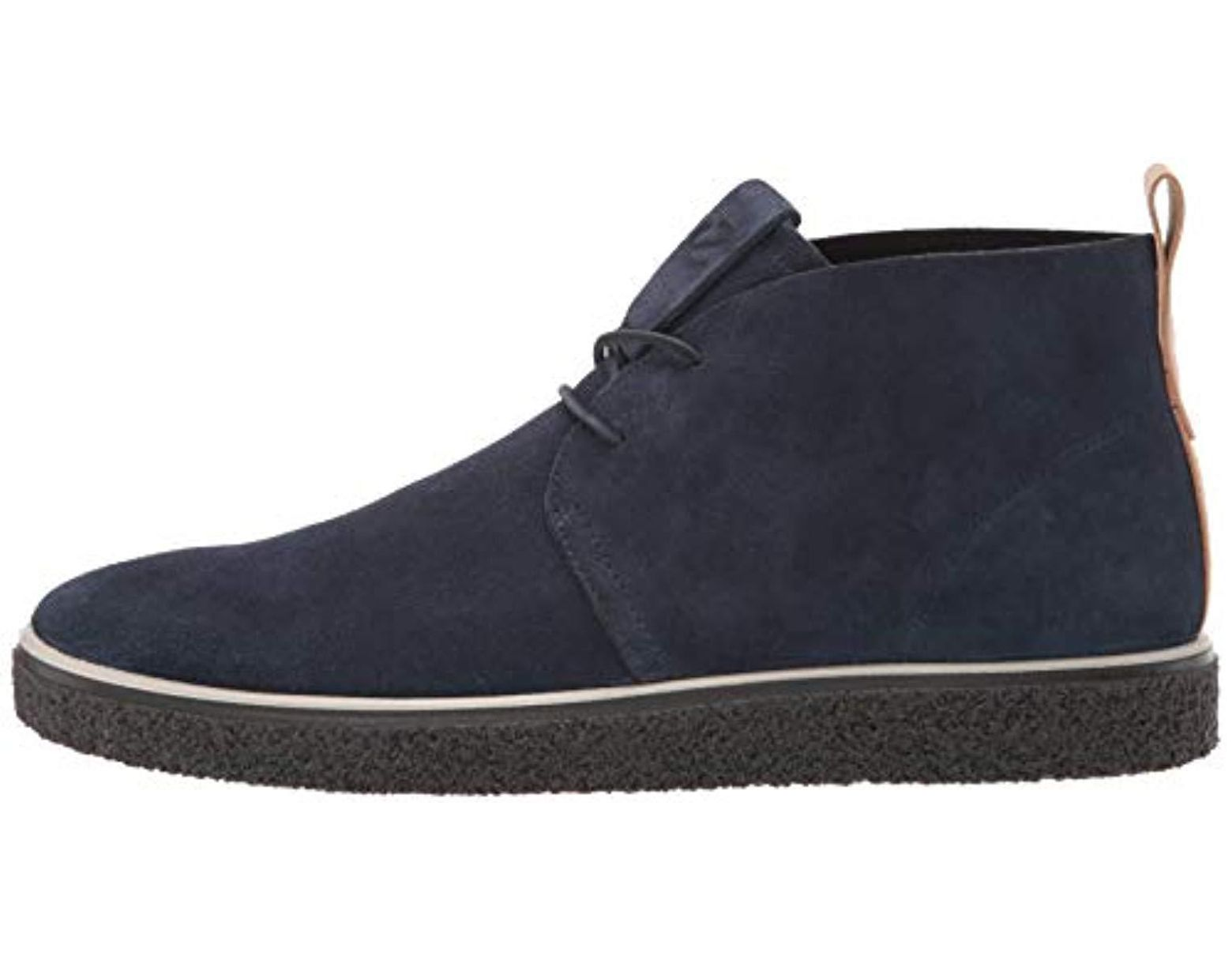 fb4dc5403fa Ecco Crepetray Chukka Mid (marine Suede) Boots in Blue for Men - Save 55% -  Lyst