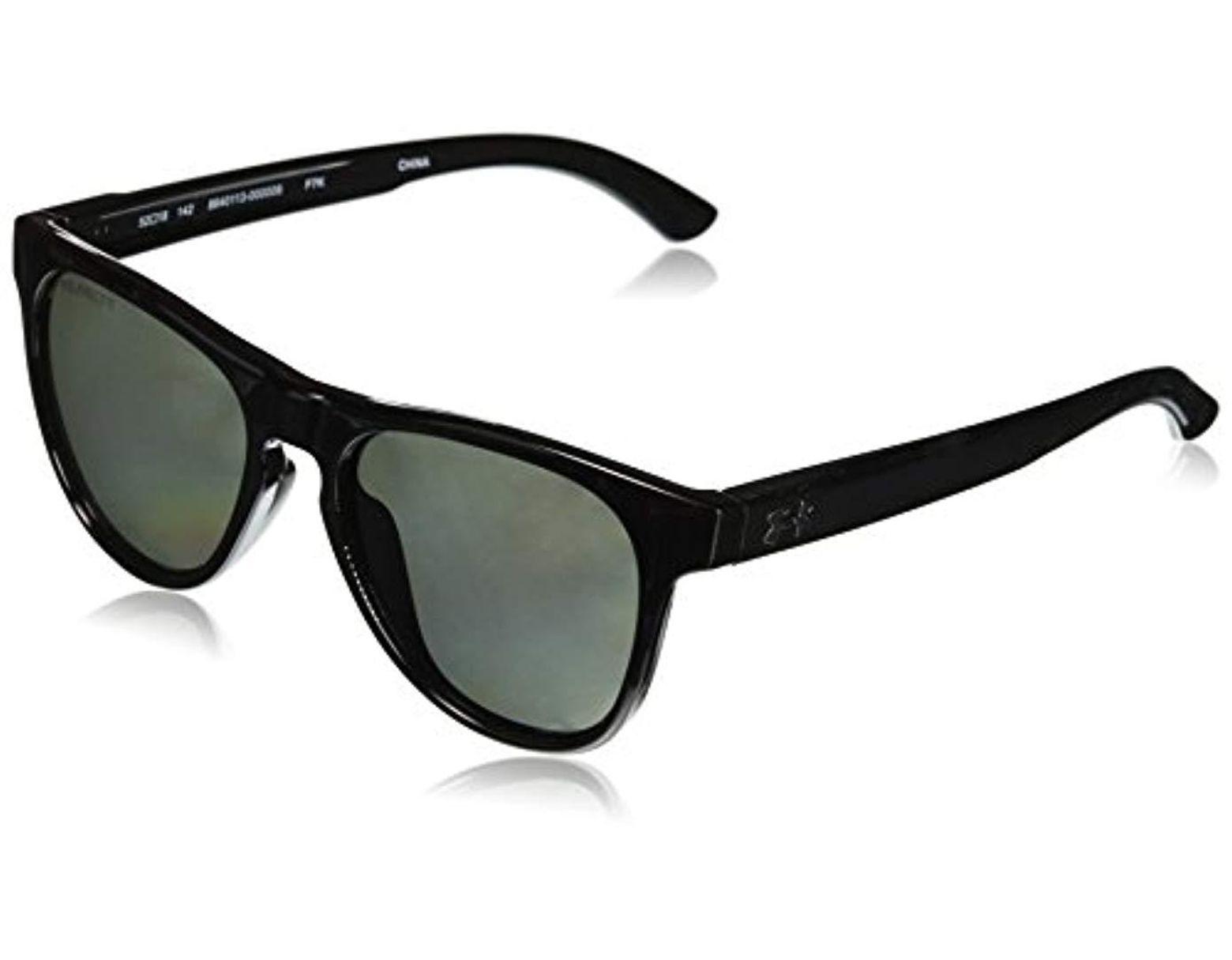 aea9620208da Under Armour Round Sunglasses, Ua Scheme Storm Gloss Black/gray Polar Lens,  M in Black for Men - Save 61% - Lyst