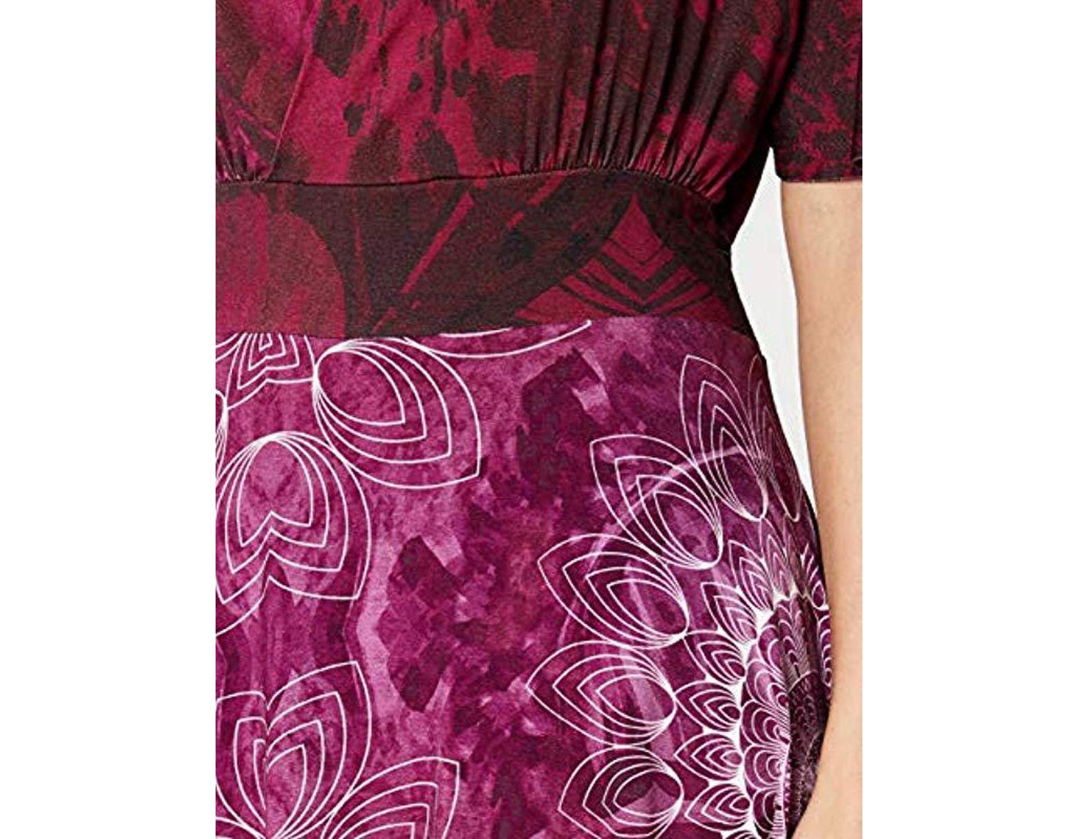 f89ead3e23 Desigual Constancio Short Sleeve Dress in Purple - Lyst