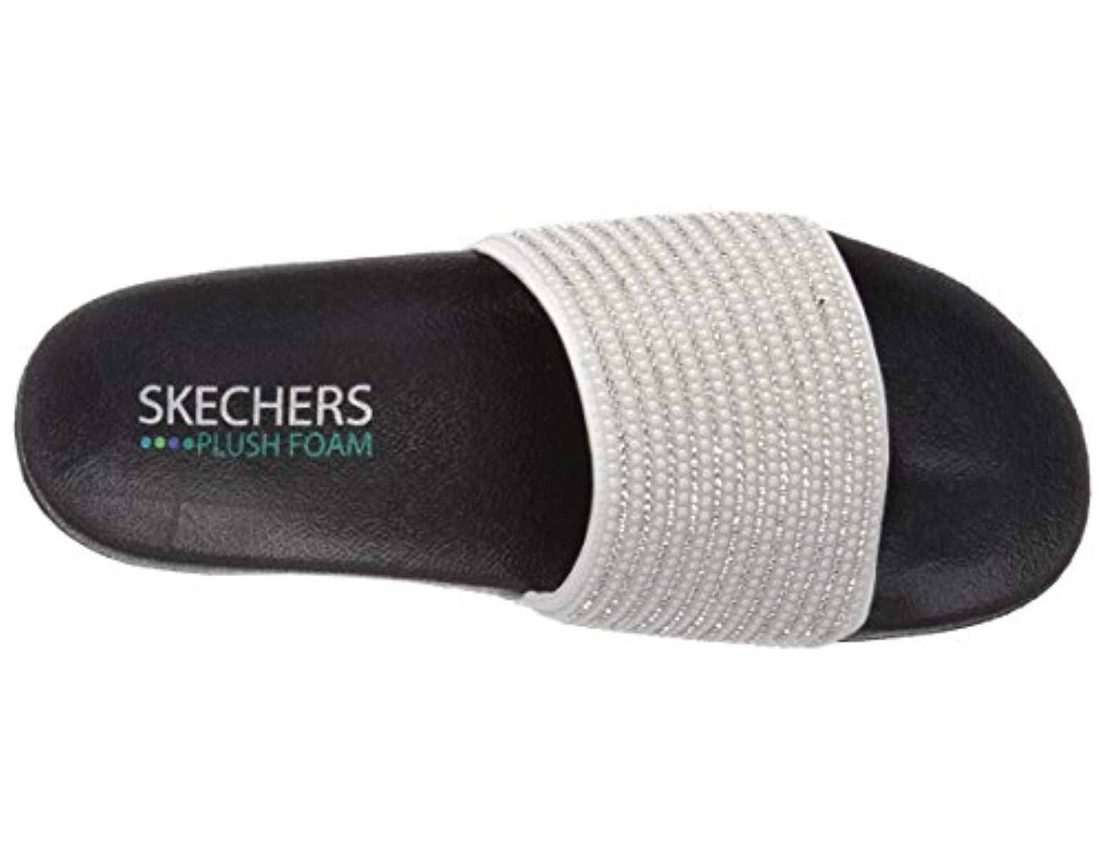 8a14d4519b96 Lyst - Skechers Pop Ups-halo Power-rhinestone And Pearl Shower Slide Sandal  in Metallic - Save 8%