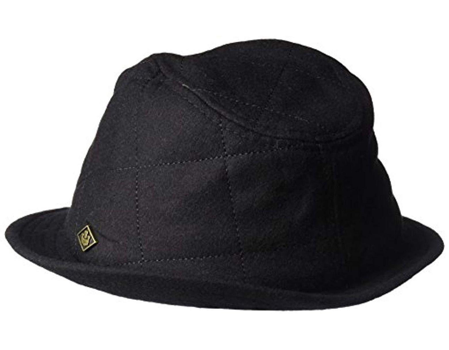 0696f042ad0aa5 Goorin Bros Huck Knit Fedora Hat in Black for Men - Lyst