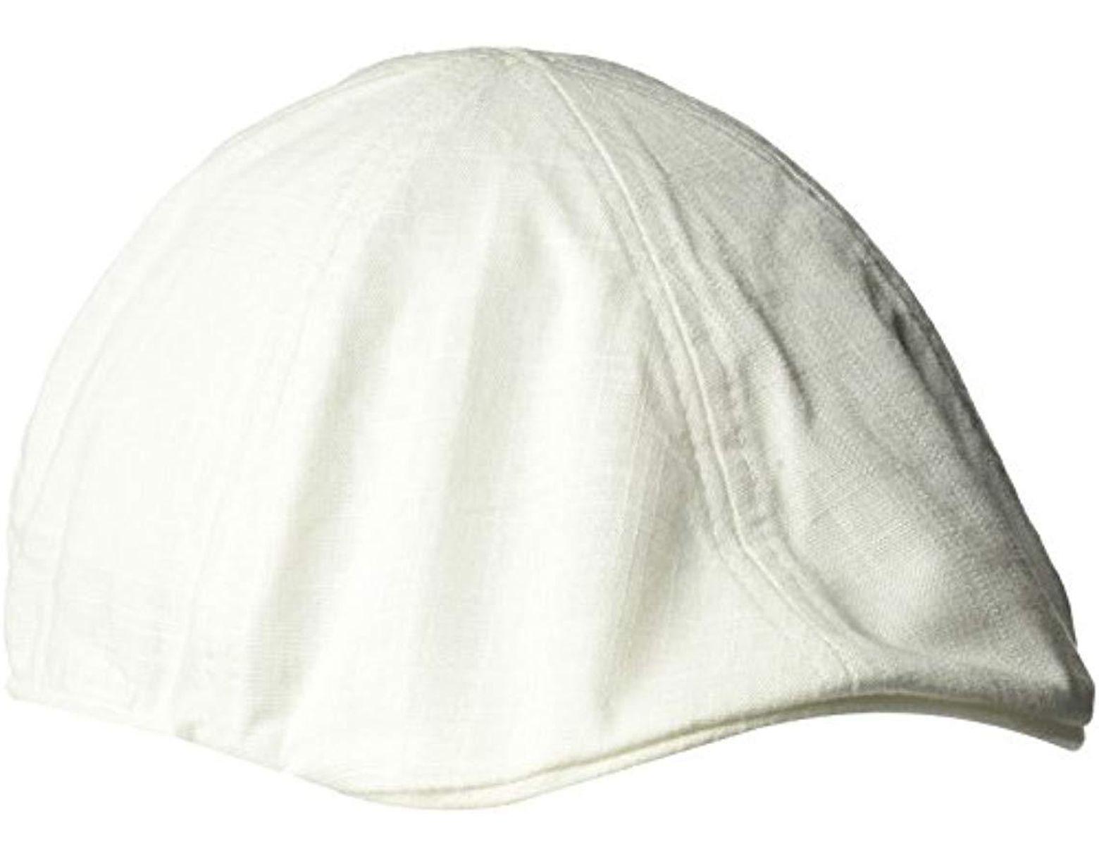 15c020eb Sean John Herringbone Texture 6 Panel Newsboy Cap, Ivy in White for Men -  Lyst