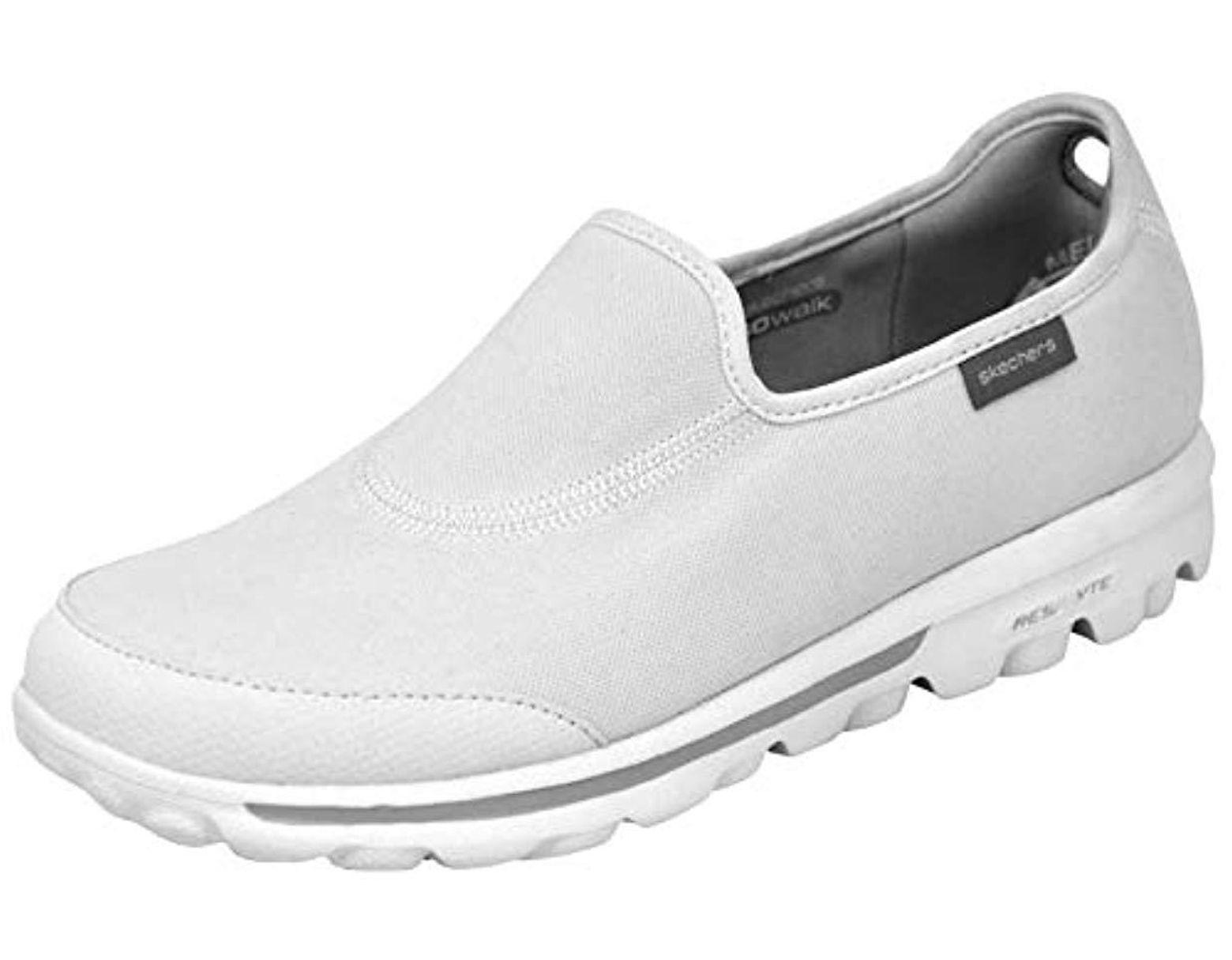 9faafcd00e5d4 Skechers Performance Go Walk Impress Memory Foam Slip-on Walking Shoe in  White - Lyst