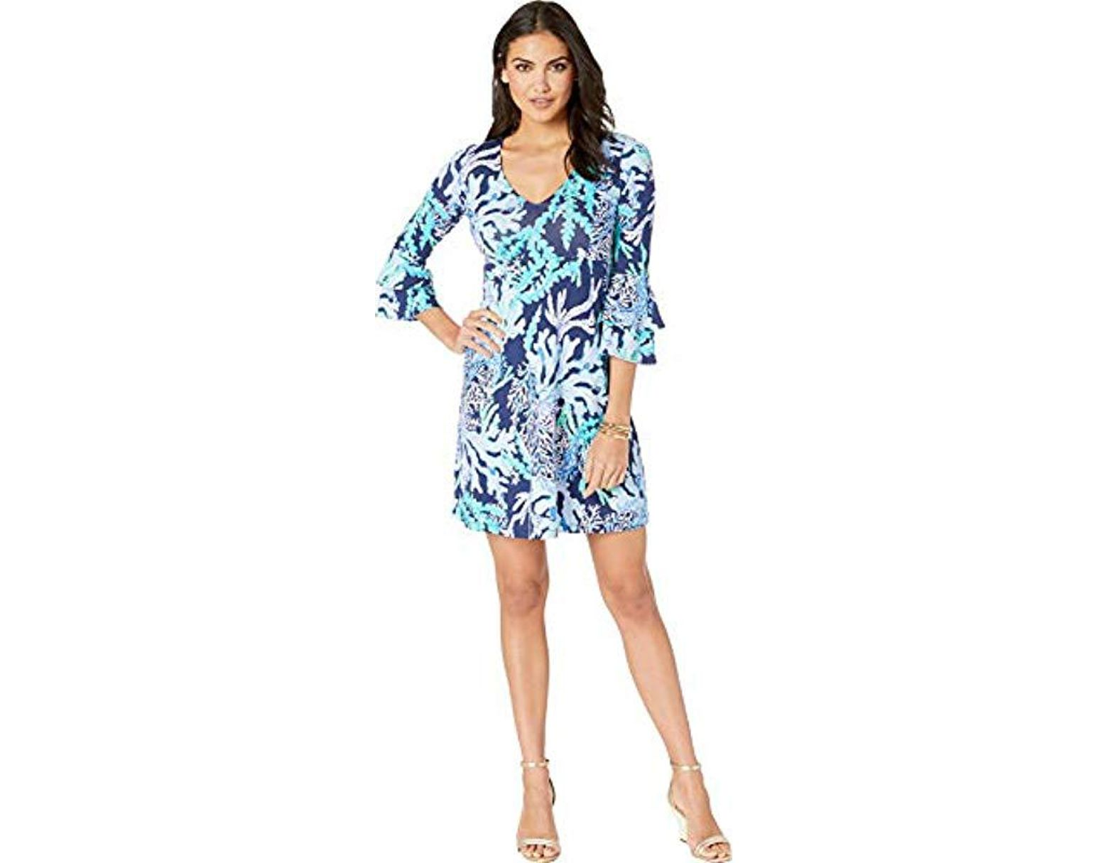 1c02a0c5536e2f Lilly Pulitzer Raina Dress in Blue - Lyst
