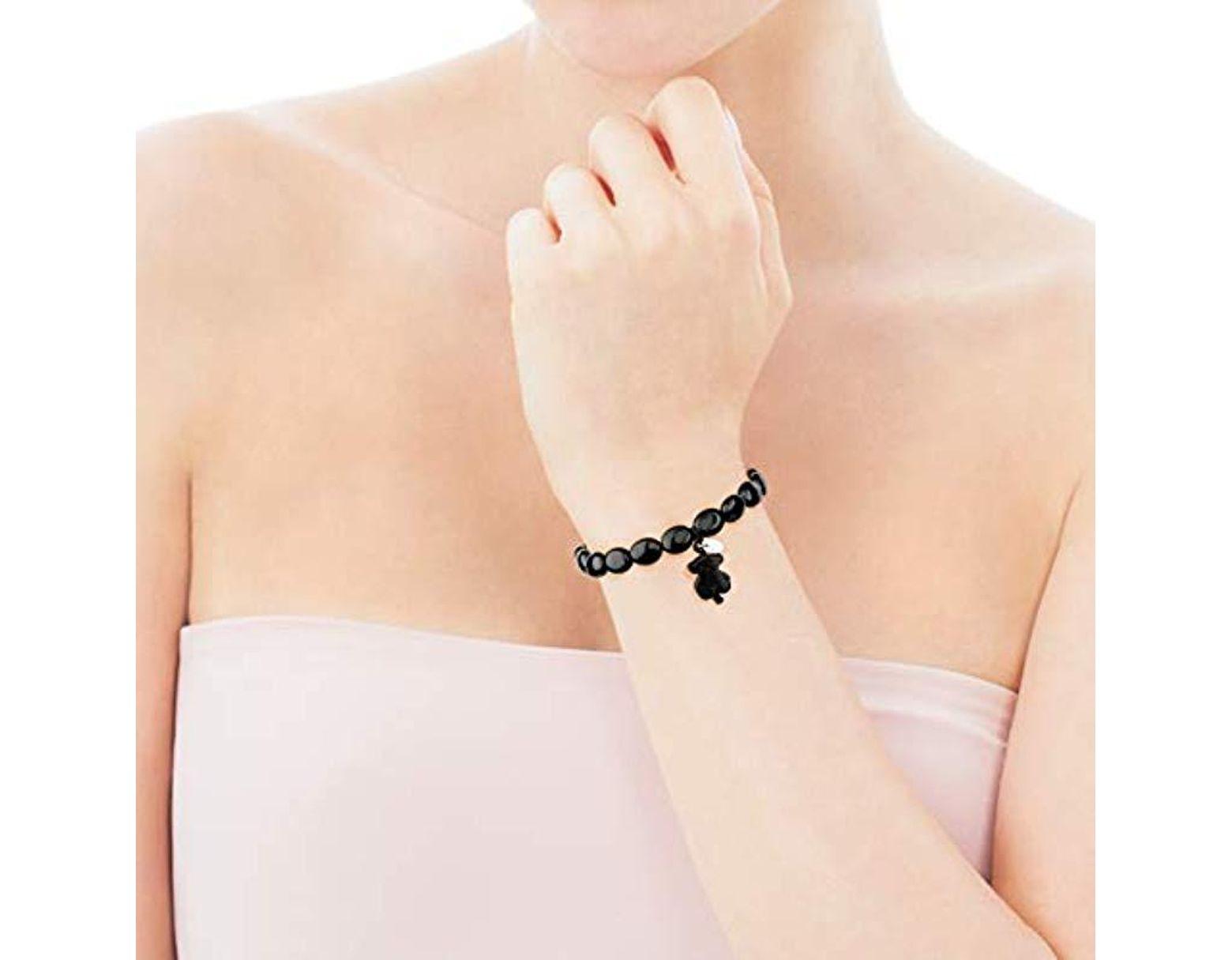 8556e4acbc4b Pulsera ajustable de mujer en Plata de primer Ley negra y colgante Onix Tous  de color Negro - Lyst