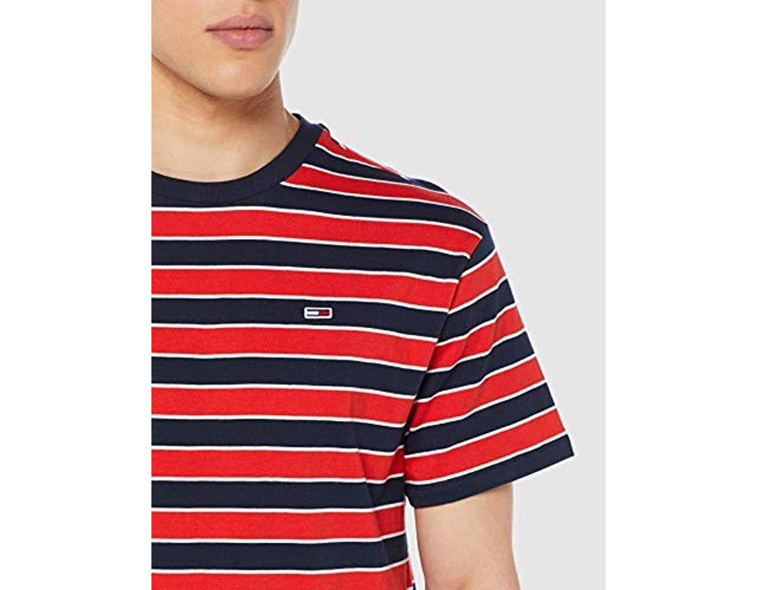 5670a782 Tommy Hilfiger Tjm Bold Stripe Tee T-shirt in Red for Men - Save 13% - Lyst