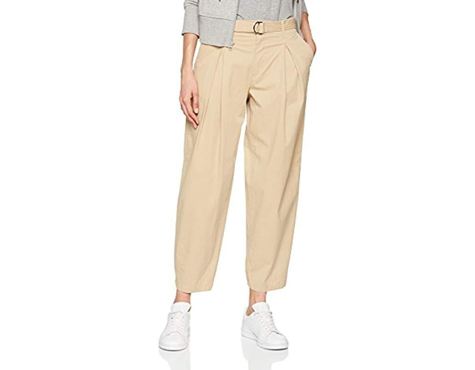 1a851d25d Filippa K Madison Belted Trousers in Natural - Lyst