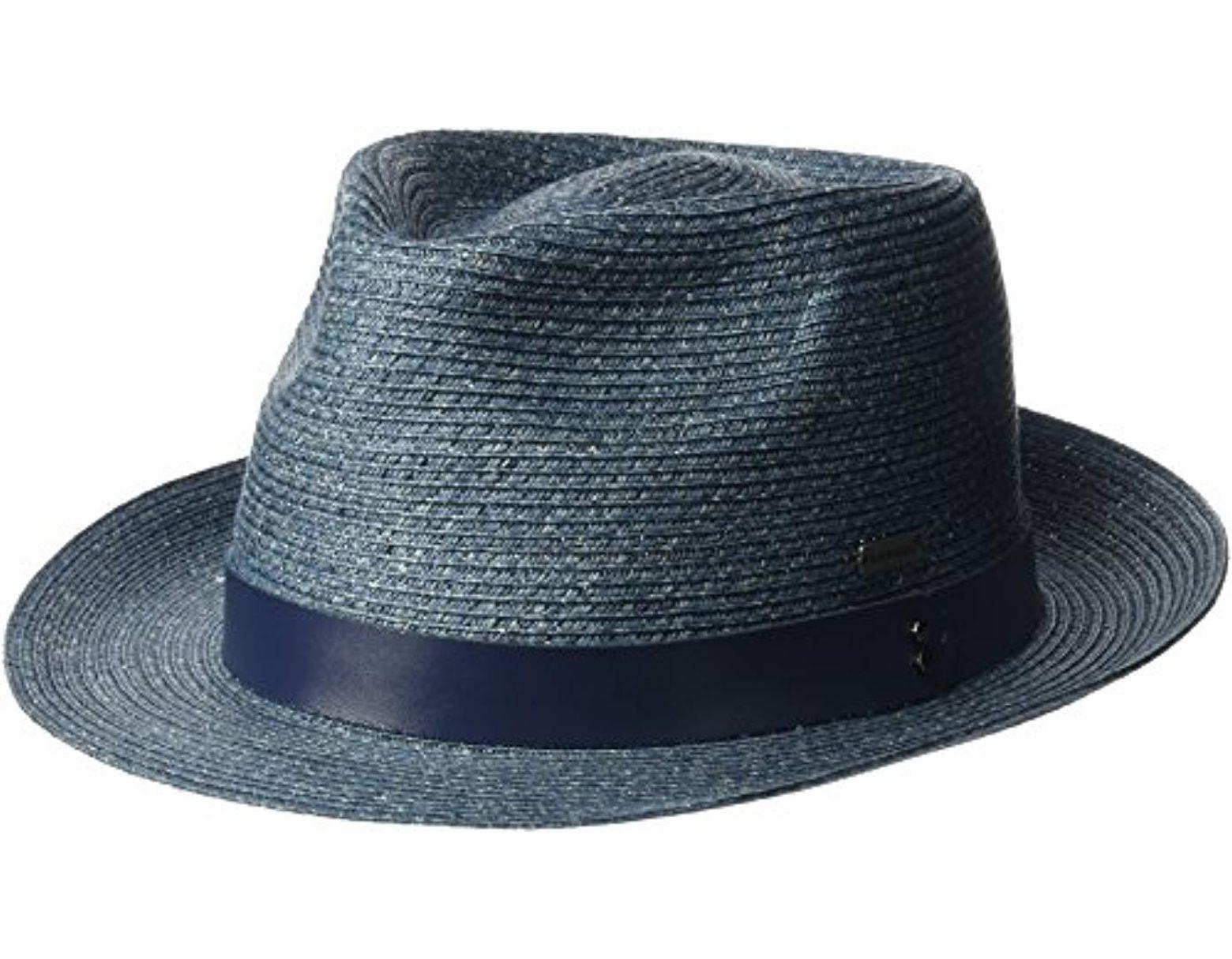 f8775b74 Kangol Waxed Braid Trilby Fedora Hat in Blue for Men - Save 18% - Lyst