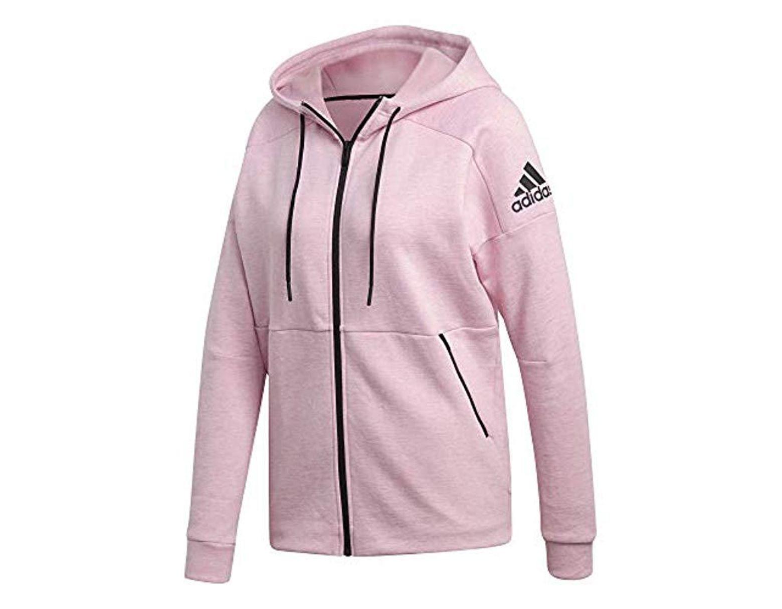 7db1ab5ce0a9f adidas W Id Stadium Hd Sweatshirt in Pink - Lyst