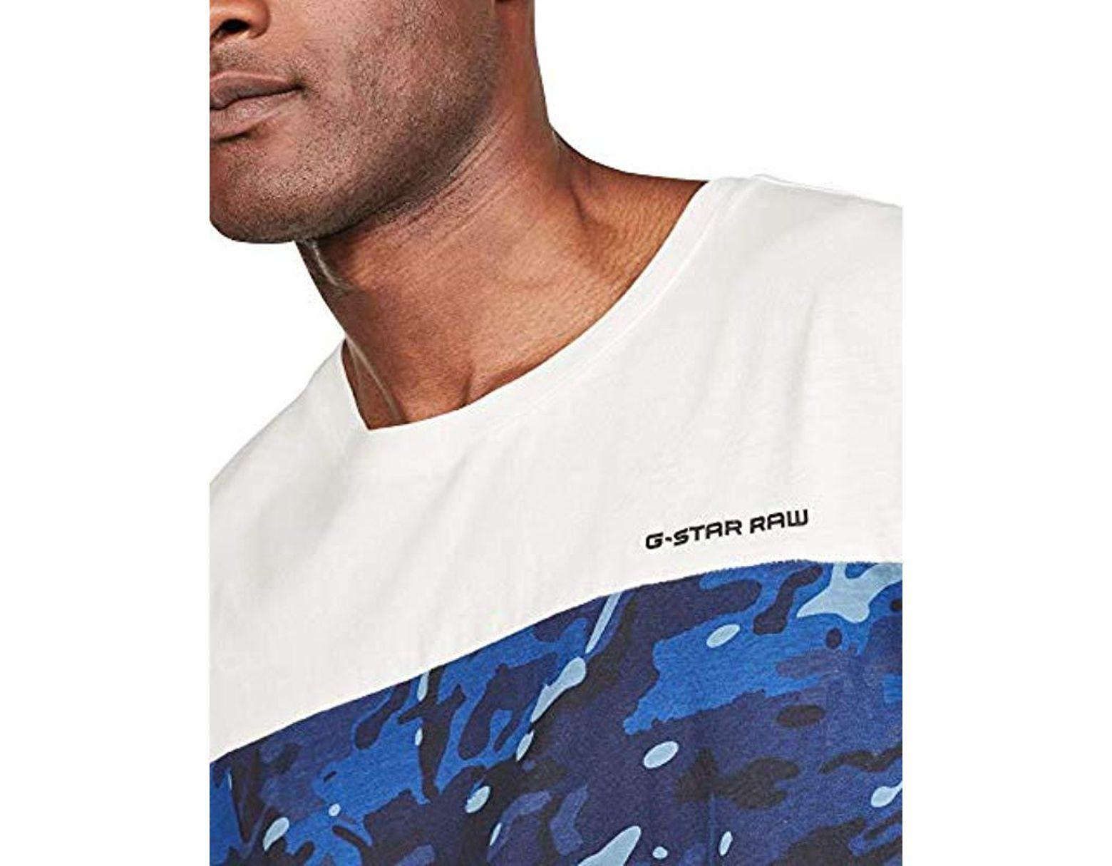 83119e0b G-Star RAW Moat Camo Block T-shirt for Men - Lyst