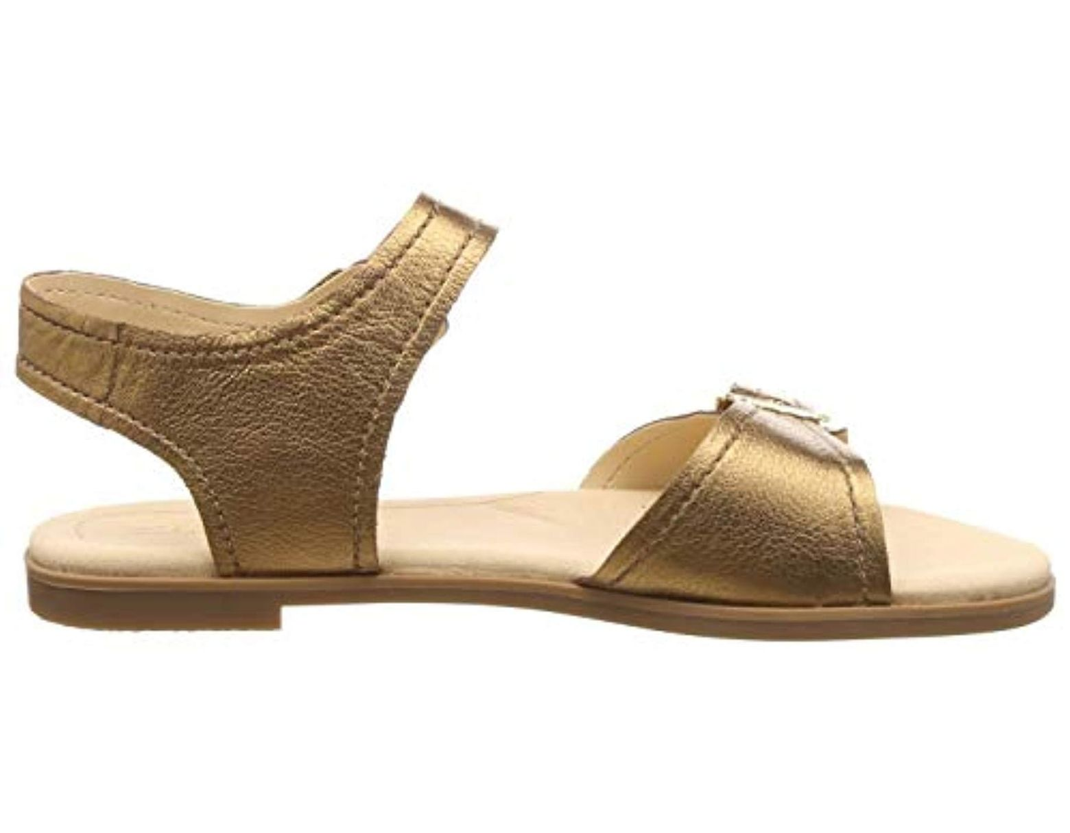 2f8e06be Clarks Bay Primrose Ankle Strap Sandals in Metallic - Lyst