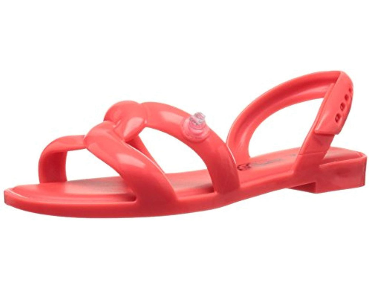 0ad547b4f81f Lyst - Melissa Tube Jeremy Scott Jelly Sandal in Red - Save 83%