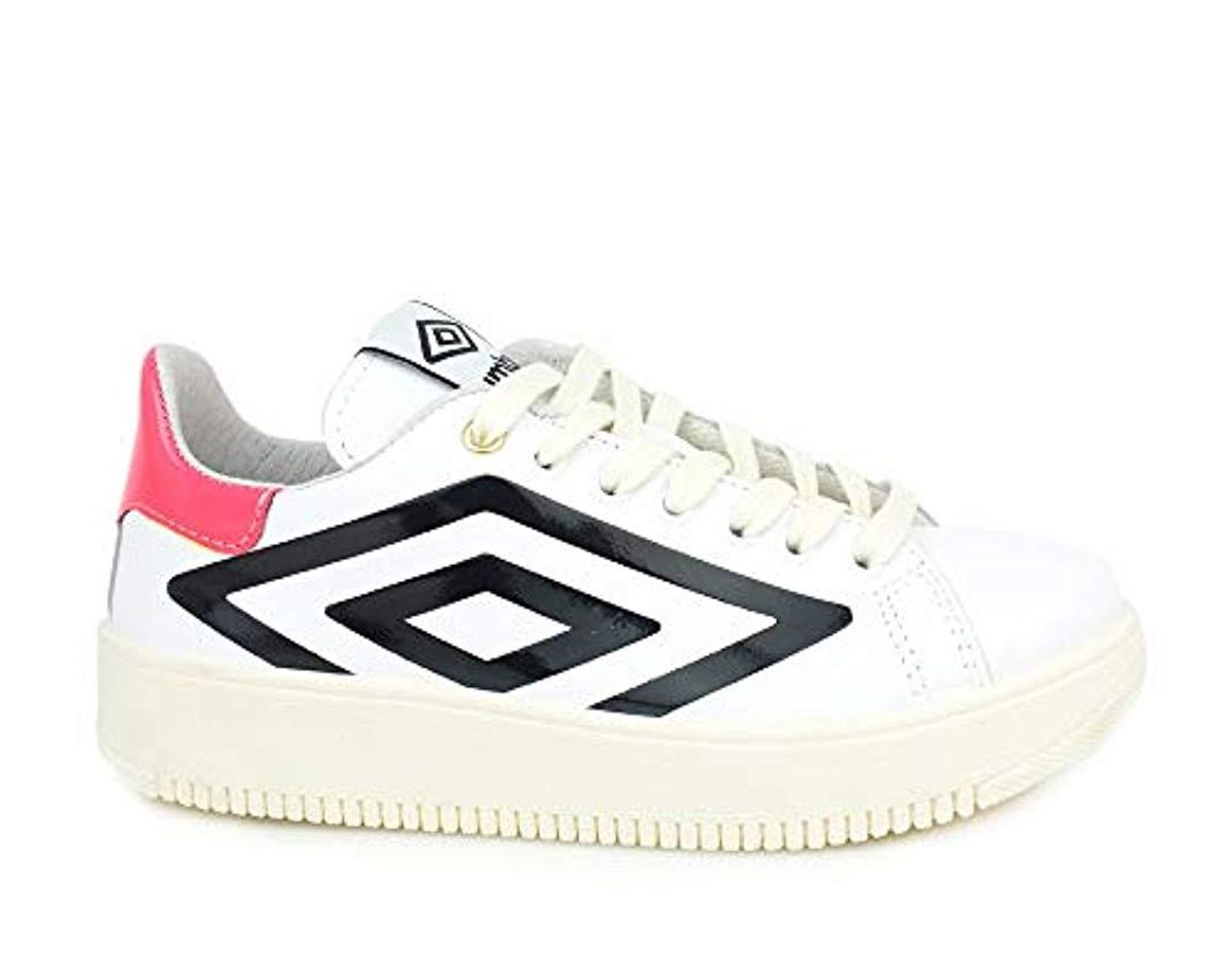 4284bca53b Umbro Sneaker Bianco Nero Rosa Rfp37021s - Lyst