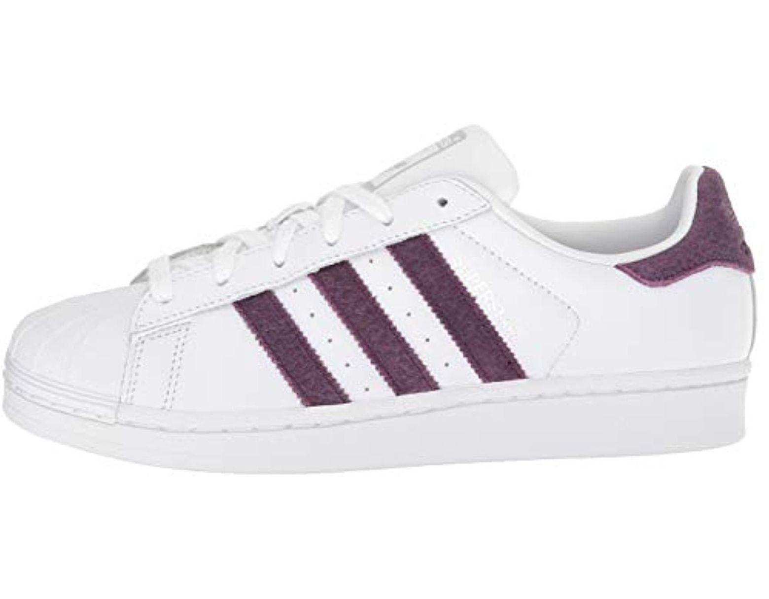 adidas Originals Women's Superstar Shoes Running, Whitered NightSilver Metallic, 9 M US