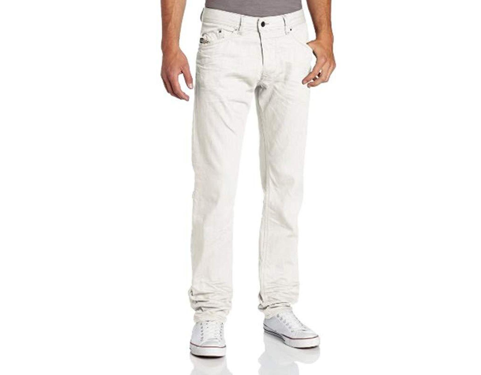 a1c06324 DIESEL Darron Regular Slim Tapered-leg Jean 008qu in White for Men - Lyst