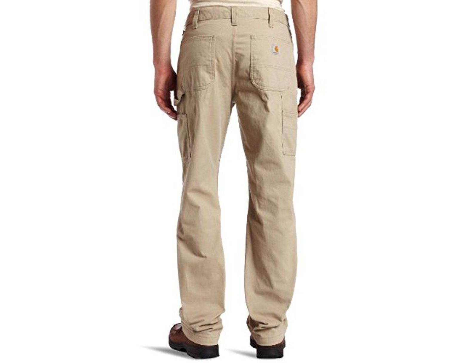1d69c1e11ad Lyst - Carhartt Relaxed-fit Washed Twill Dungaree Pant in Natural for Men -  Save 10%