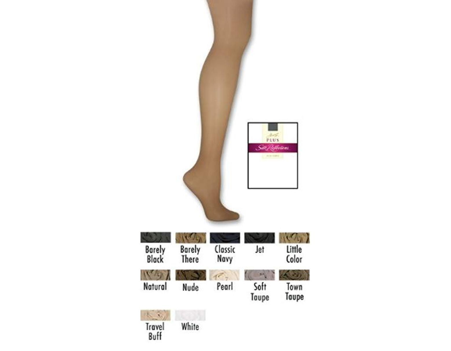 d4686f2e1e558 Hanes Silk Reflections Plus-size Control Top Enhanced Toe Pantyhose - Lyst