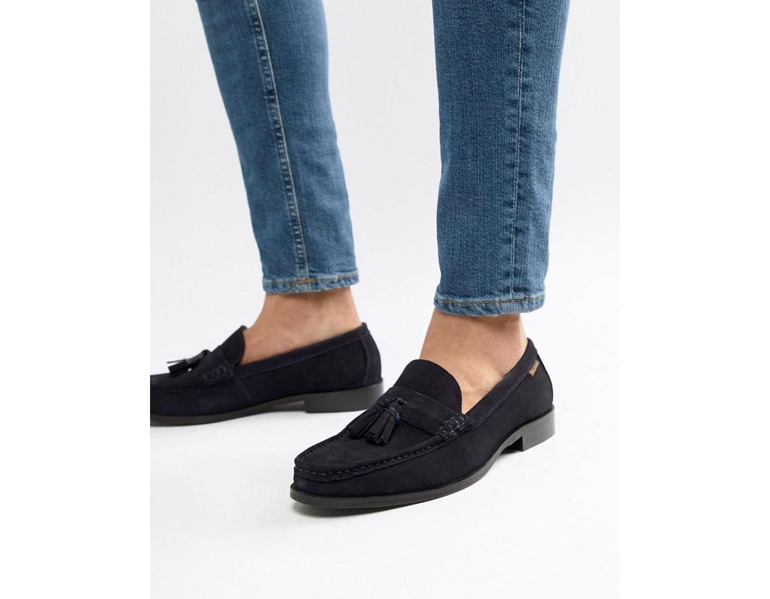 8e3585746f8a Ben Sherman Loafers Tassel Loafers In Navy Suede in Blue for Men - Lyst